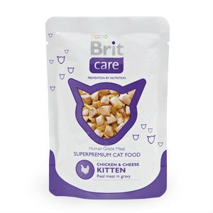 Brit Care Cat пауч для котят (Курица и утка) 80 гр / Brit Care pouch kitten (Chicken and cheese) 80 gr
