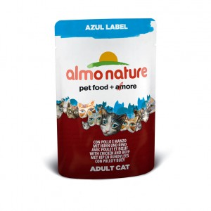 Almo Nature Azul Label с курицей и говядиной (пауч) 70 гр / Almo Nature Azul Label chicken and beef (pouch) 70 gr