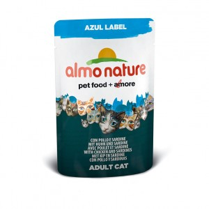 Almo Nature Azul Label с курицей и сардинами (пауч) 70 гр / Almo Nature Azul Label chicken and sardinas (pouch) 70 gr