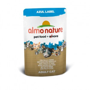 Almo Nature Azul Label с курицей и тунцом (пауч) 70 гр / Almo Nature Azul Label chicken and tuna (pouch) 70 gr