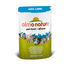 Almo Nature Azul Label с тунцом и лососем (пауч) 70 гр / Almo Nature Azul Label tuna and salmon (pouch) 70 gr