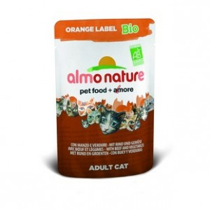 Almo Nature Orange Label БИО с Говядиной и овощами 70 гр / Almo Nature Orange Label Bio