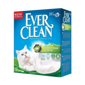 Ever Clean Extra Strong Clumping Scented с ароматизатором (зеленая полоса) 6 кг